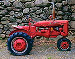 BN Culti-Vision McCormick Farmall Tractor and Stone Wall, Ashby, MA