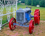 Old Fordson Tractor Next to White Trellis, Ashby, MA