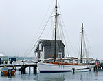 "Sailing Ketch ""Ayuthia"" at Dock, Vineyard Haven Harbor, Martha's Vineyard, Vineyard Haven, MA"