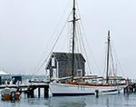 "Sailing Ketch ""Ayuthia"" at Dock, Vineyard Haven Harbor, Martha's Vineyard, Vineyard Haven, MA"