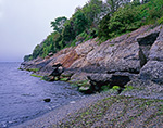 Small Cliff Comprised of Puddingstone along Shoreline of Sakonnet River, Middletown, RI