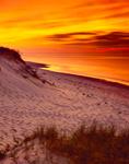 Sunset over Dunes and Beach at Sandy Neck, Sandy Neck Beach Park, Cape Cod, Barnstable, MA