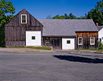 Natural Wood Barn with White Doors and Trim, Fitzwilliam, NH