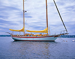 "Sailing Ketch ""Snow Goose"" at Mooring on Sakonnet River, Tiverton, RI"