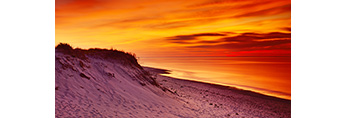 Sunset and Dunes at Sandy Neck, Cape Cod, Barnstable, MA