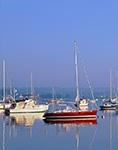 Boats with Reflections in Stonington Harbor, Stonington, CT