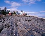 Pemaquid Point Lighthouse and Rocks on Maine Coast, Pemaquid Point, Bristol, ME
