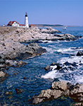 Portland Head Light with Schooner, Cape Elizabeth, ME