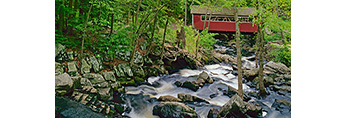 Covered Bridge at Southford Falls State Park, Southford, CT