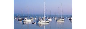 Early Morning Light on Boats in Stonington Harbor, Stonington, CT