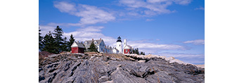 Pemaquid Point Lighthouse and Rocks on Maine Coast, Pemaquid Point, Bristol, ME