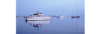 Boats with Reflections in the Inner Harbor, Village of Watch Hill, Little Narragansett Bay, Westerly, RI