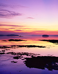 Predawn View of Middle Bay from The Goslings with Shelter and Birch Islands in Distance, Casco Bay, Harpswell, ME