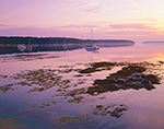Sunrise over Boats at Moorings at The Goslings, Casco Bay, Harpswell, ME