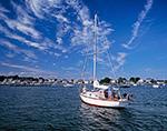 "Cape Dory ""Impromptu"" Entering Pine Island Bay, off Fishers Island Sound, Long Island Sound, Groton, CT"