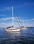 "Bayfield 32 ""Brown Eyes"" at Mooring in Pine Island Bay, off Fishers Island Sound, Long Island Sound, Groton, CT"