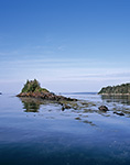 View of Irony Island with Whaleboat Island in Distance and the Eastern Gosling on Right, Casco Bay, Harpswell, ME 