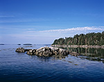 Rocks at High Tide at the Eastern Gosling with Little Whaleboat Island in Distance, Casco Bay, Harpswell, ME