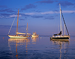Late Evening Light on Boats in Wickford Harbor near Poplar Point, Wickford, North Kingstown, RI