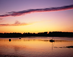 Boats at Sunset in Cove at Cliff Island, Casco Bay, Portland, ME