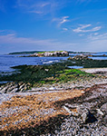 Sandy Shore of Island at Broken Cove LookingTowards West Brown Cow Island with Jewell Island in Background, Casco Bay, Cumberland, ME