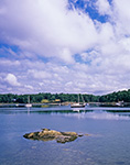 Boats in The Basin off New Meadow River, Casco Bay Region,  Phippsburg, ME