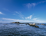 View from Broken Cove out to West Brown Cow Island with Jewell Island in Distance, Casco Bay, Portland, ME