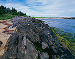 Long, Jagged Rock along Shore of The Punchbowl on Jewell Island, Casco Bay, Cumberland/Portland, ME