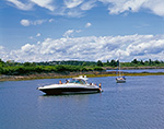 Boats in Anchorage at Jewell Island with Little Jewell Island in Background, Casco Bay, Cumberland/Portland, ME