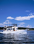 Motor Cruiser on Casco Bay near Little Mark Island, Casco Bay,  Harpswell, ME