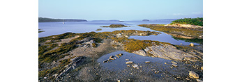 View from the Eastern Gosling Looking Northeast up Middle Bay, Casco Bay, Harpswell, ME