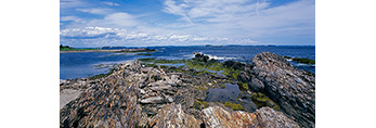 Rock Formations Creating the Outer Edge of The Punchbowl on Jewell Island, Casco Bay, Cumberland/Portland, ME