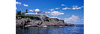 View of Home of Admiral Robert Peary on Eagle Island, Eagle Island State Historic Site, Casco Bay, Harpswell, ME