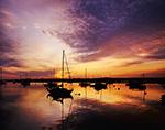 Boats in Nantucket Harbor at Sunrise, Nantucket Island, Nantucket, MA