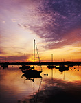 Boats in Nantucket Harbor at Sunrise, Nantucket Island, Nantucket, MA