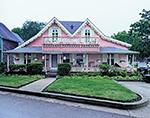 "Pink Gingerbread House ""Sea Shrimp"", Martha's Vineyard, Oak Bluffs, MA"