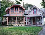 Gingerbread Houses Side by Side, Martha's Vineyard, Oak Bluffs, MA