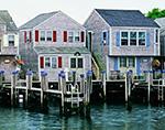 Wharf Houses along Old South Wharf, Nantucket Boat Basin, Nantucket Island, Nantucket, MA