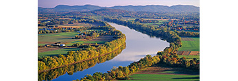 Connecticut River and Valley from Mt. Sugarloaf, South Deerfield, MA