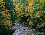 View of Ompompanoosuc River in Fall, Thetford, VT
