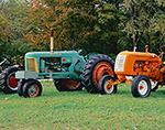 Old Oliver 88 Tractor with Old Co-op Tractor, Dorr Tractor Farm, Manchester, VT