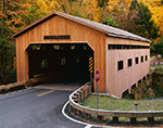 Bissell Covered Bridge over Mill Brook, Berkshire Mountains,  Charlemont, MA