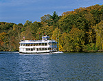 "Tour Boat ""Becky Thatcher"" in Fall on the Connecticut River,  Deep River, CT"