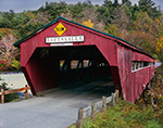 Taftsville Covered Bridge over Ottauquechee River, Village of Taftsville, Woodstock, VT