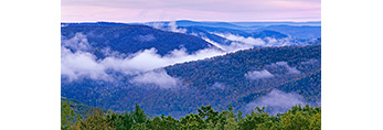 Ground Fog and Rolling Hills of the Berkshire Mountains, View from Mohawk Trail, Florida, MA
