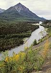 Matanuska River and Kings Mountain, Chugach Mountains, Alaska