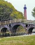 Currituck Light and Wooden Bridge, Outer Banks, Corolla, NC