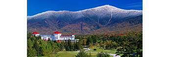 Mt. Washington and Mt. Washington Hotel in Fall, Presidential Range, Bretton Woods, White Mountains, Carroll, NH