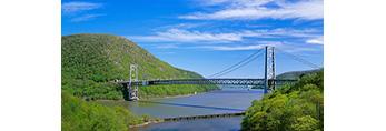Bear Mountain Bridge over Hudson River, New York