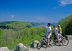 Mountain Bikers at Enfield Lookout, Quabbin Reservation, Ware, MA
